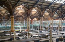 Liverpool Street Train Station Interior. London