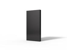 3d Illustration Of Black Monolith.