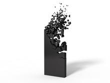 3d Illustration Of Black Monol...