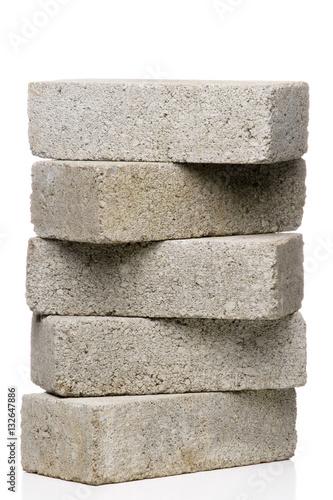 Stack of Cement Bricks Wallpaper Mural