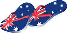 Australian Themed Flip Flops