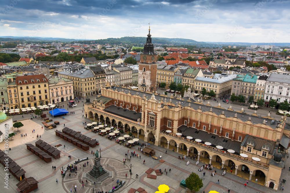 Fototapety, obrazy: Główny rynek i Sukiennice w Krakowie