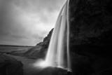 Monochrome Waterfall Scene - 132655296