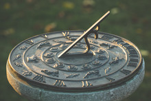 Sundial During Sunset, Time Co...