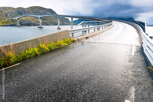 Wall Murals Northern Europe Runde Bridge. The county of More og Romsdal. Norway.
