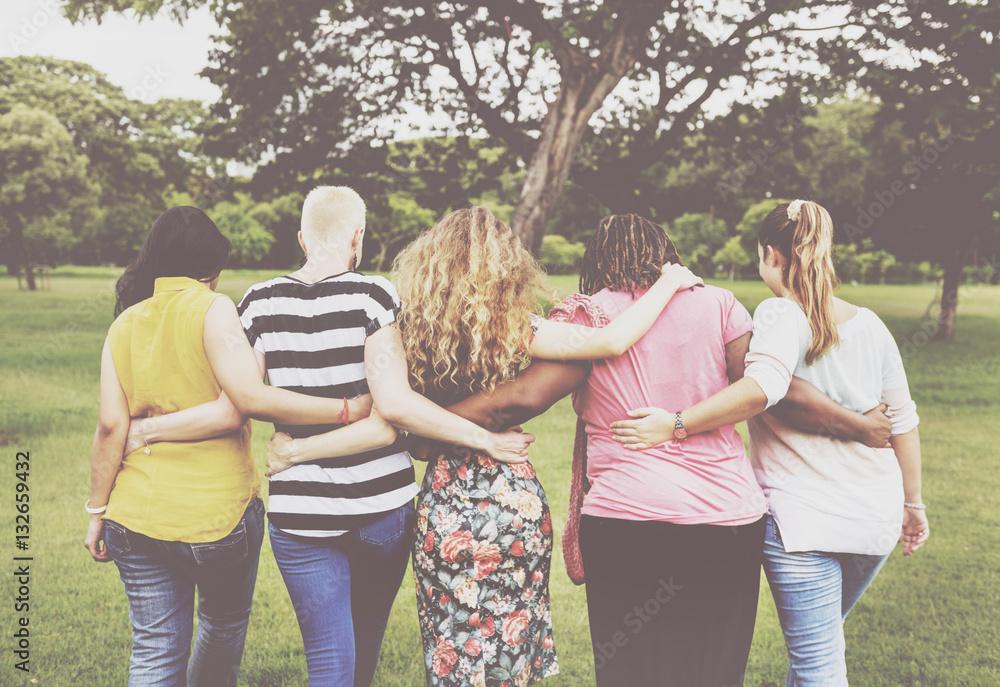 Fototapeta Women Female Feminism Lady Madam Friends Concept