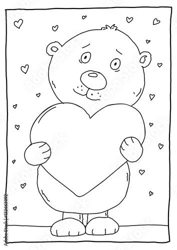 Ausmalbild Bär Buy This Stock Illustration And Explore