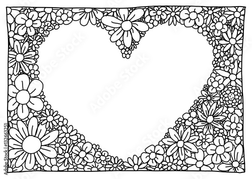 Ausmalbild Herz Buy This Stock Illustration And Explore