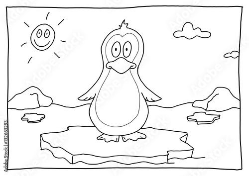 Ausmalbild Pinguin Kaufen Sie Diese Illustration Und Finden Sie
