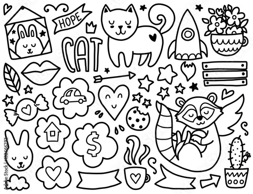 Photo Doodles cute elements.