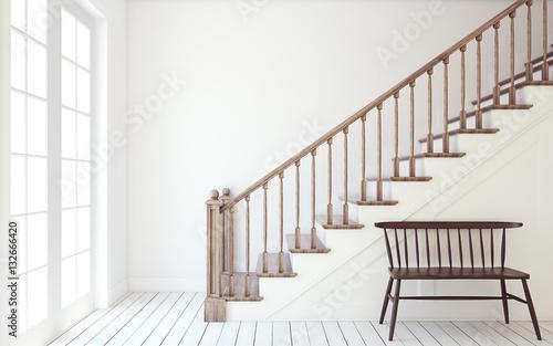 Fototapeta Stairway. 3d render. obraz na płótnie