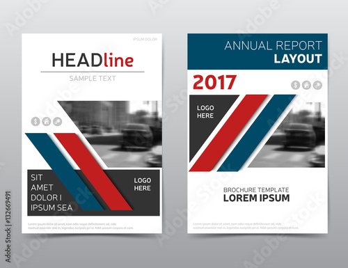 red and blue brochure design annual report cover flyer template
