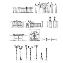 Vector Set Of Urban Elements