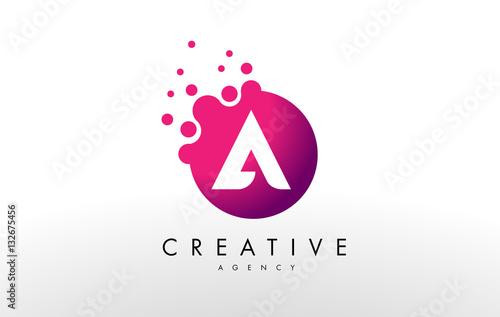 Fotografía  Letter A Logo. A Letter Design Vector