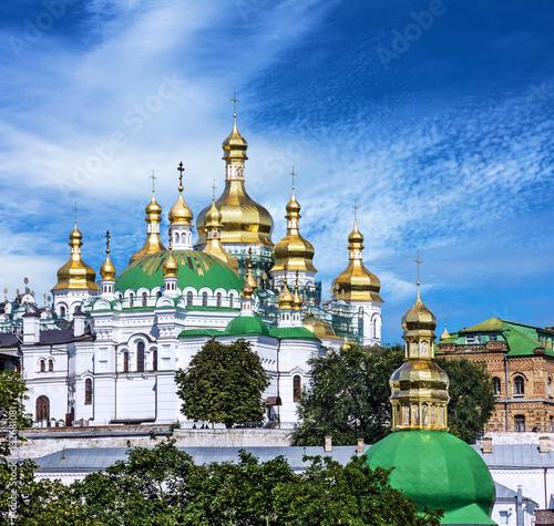 Foto op Plexiglas Kiev Church of famous Kiev Pechersk Lavra Monastery, Ukraine