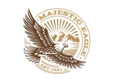 Eagle Logo - Vector Illustration, Emblem On White Background