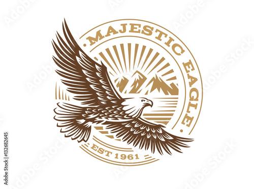 Fotografia Eagle logo - vector illustration, emblem on white background
