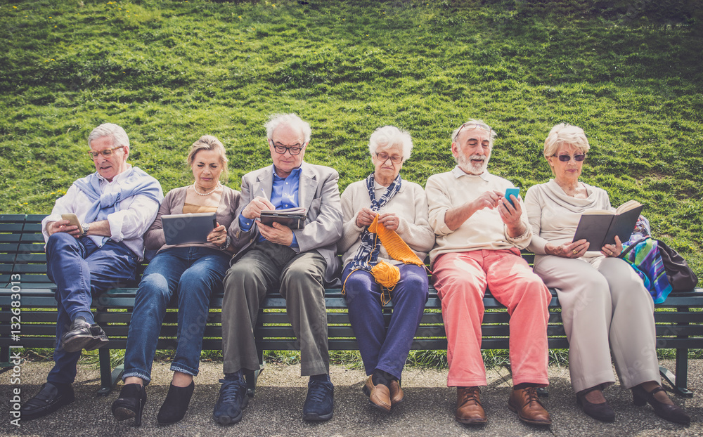 Fototapety, obrazy: Senior people in a retirement home