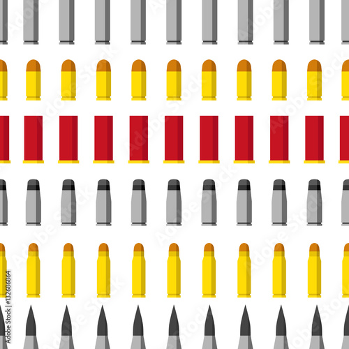 Valokuvatapetti Pattern of different caliber bullets