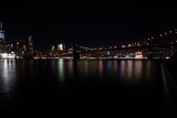 Fototapeta Londyn - night photo with manhattan