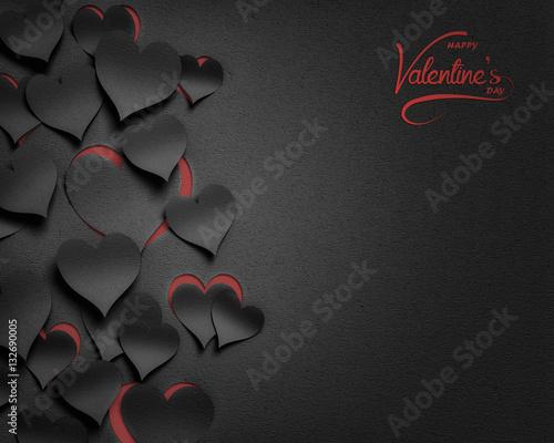 paper hearts , happy valentine's day  - 3D romantic card / background ( love , valentine ) © Wojciech Rochowicz