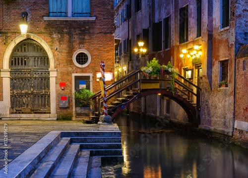 Night view of canal in Venice, Italy © Ekaterina Belova