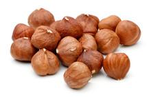 Heap Of Hazelnut Isolated