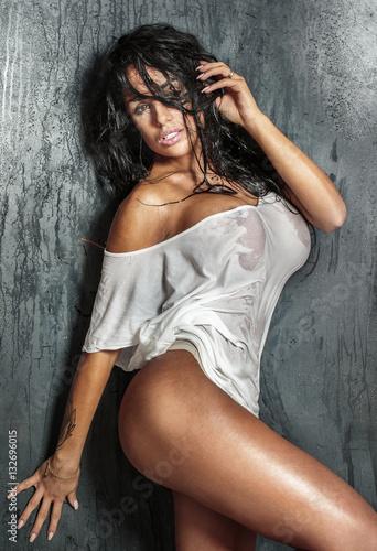 Fotografie, Obraz  Sexy woman posing in studio.