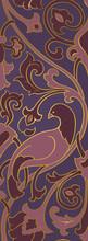 Purple Pattern With Birds.