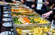 Leinwanddruck Bild - Cuisine Culinary Buffet Dinner Catering Dining Food Celebration