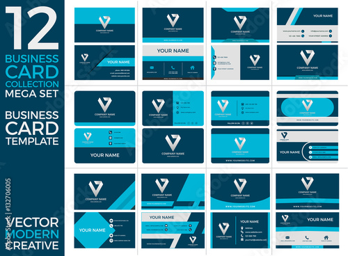 Set of business card print templates eps vector illustration set of business card print templates eps vector illustration modern and creative design reheart Gallery