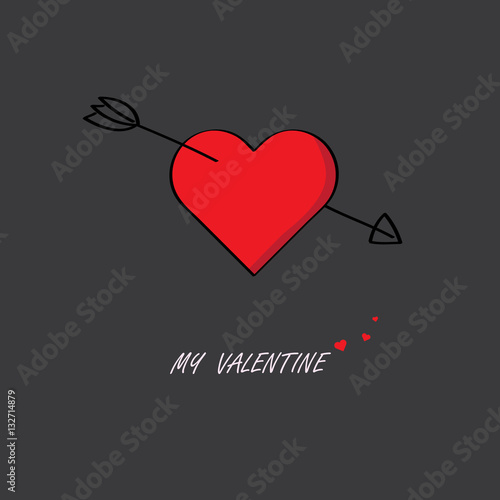 Cupid Arrow Stab In The Middle Of The Red Heart Buy This Stock