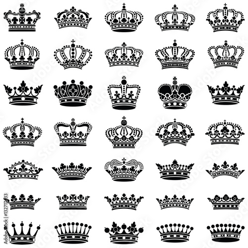 Fototapeta Crown collection - vector illustration