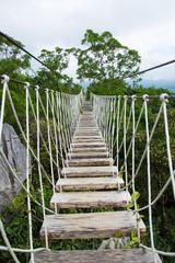 Fototapetalong hanging bridge in Masungi Reservoir, Rizal, Philippines