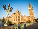 Fototapeta Big Ben - Early morning London:  Houses of Parliament and Big Ben