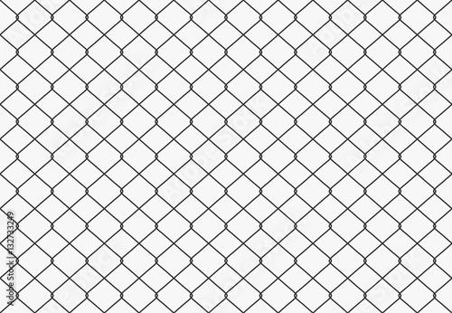 Obraz na plátně  Seamless Metal wire mesh. Vector
