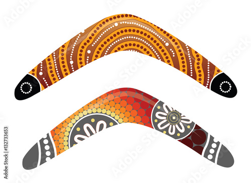 Australian boomerang vector. Wallpaper Mural