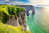 Fototapeta See - Amazing natural rock arch wonder, Etretat, Normandy, France