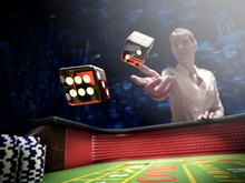 Dices Throw On Craps Table At ...