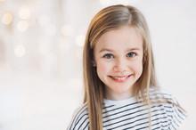 Beautiful Little Girl Portrait. People, Kids Lifestyle, Beauty, Emotions Concept.