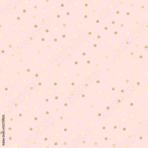 Golden glitter seamless pattern, pink background