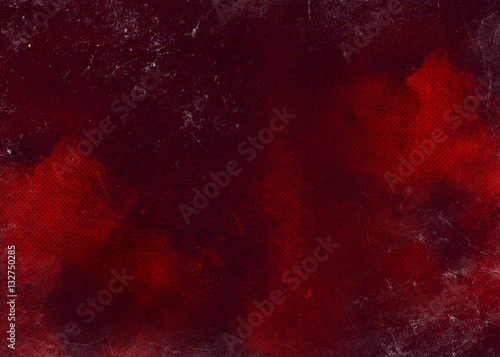Fotobehang Vuur Red abstract textured background. Texture red burgundy background with spots and dots. Background Texture Old School background Red Design