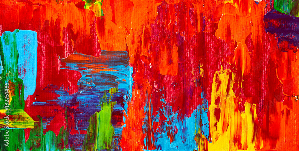 Fototapety, obrazy: Abstract oil painting. Art brushstrokes watercolor. Modern and contemporary artwork. Colorful background