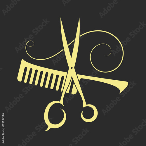 Scissors and Comb for beauty salon