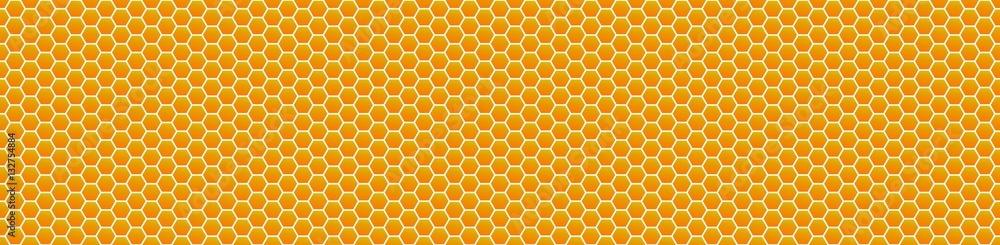 Fototapety, obrazy: Vektor Honey Comb background patern, repeatable