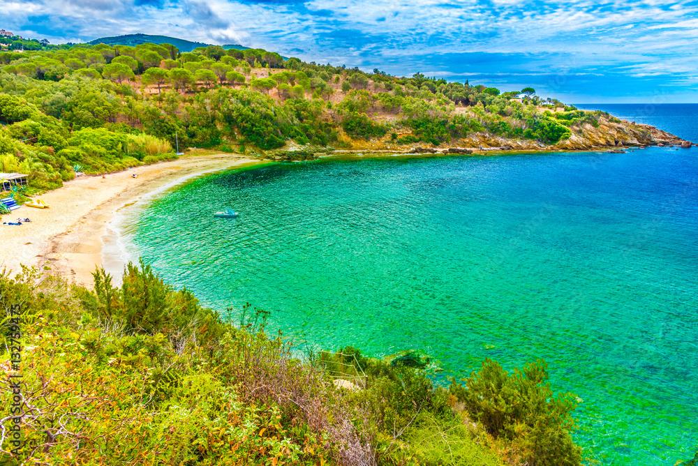 Fototapety, obrazy: Barabarca  beach in Elba Island, Tuscany,Italy.