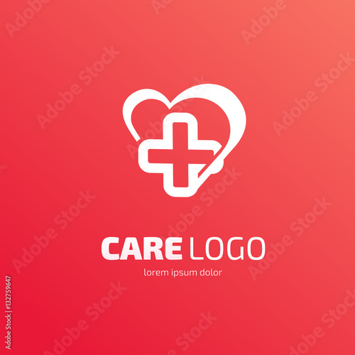 Valokuva  Logo design abstract medical vector template