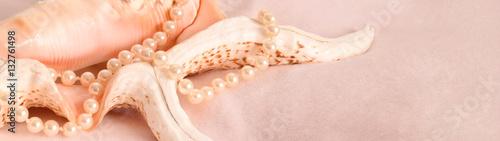 Muschel und perlen