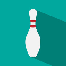 Bowling Pin With Long Shadow.
