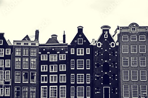 Photo  Traditional old buildings in Amsterdam, the Netherlands